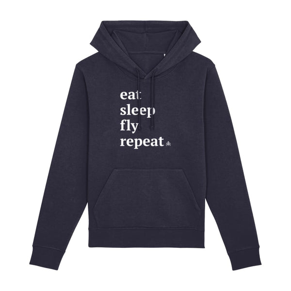 AeroThreads Clothing French Navy / XX-Small Eat Sleep Fly Repeat Unisex Hoodie