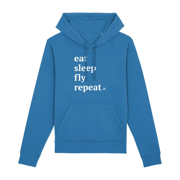 AeroThreads Clothing Royal Blue / X-Small Eat Sleep Fly Repeat Unisex Hoodie