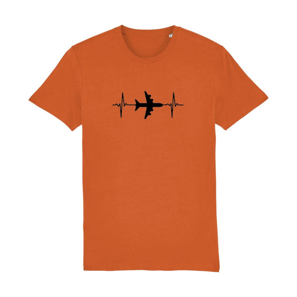 AeroThreads Clothing Bright Orange / X-Small Heartbeat Men's T-Shirt