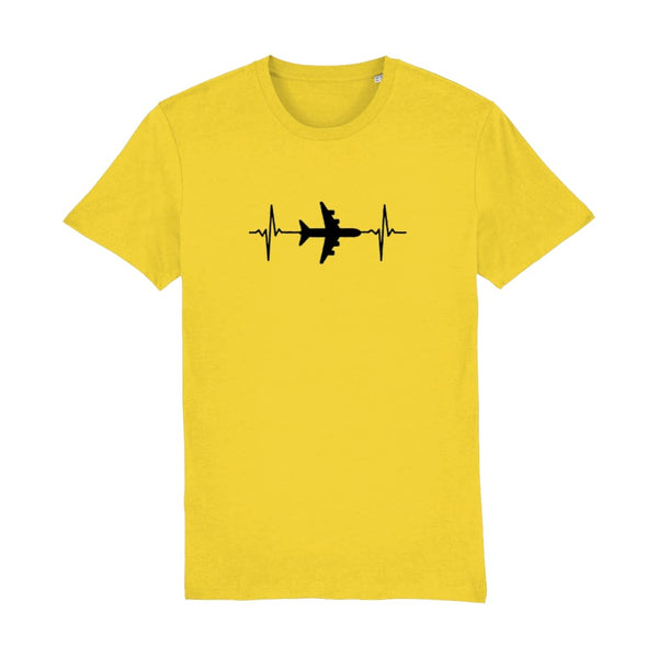 AeroThreads Clothing Golden Yellow / X-Small Heartbeat Men's T-Shirt