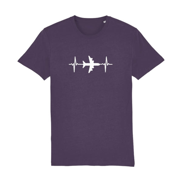 AeroThreads Clothing Plum / X-Small Heartbeat Men's T-Shirt