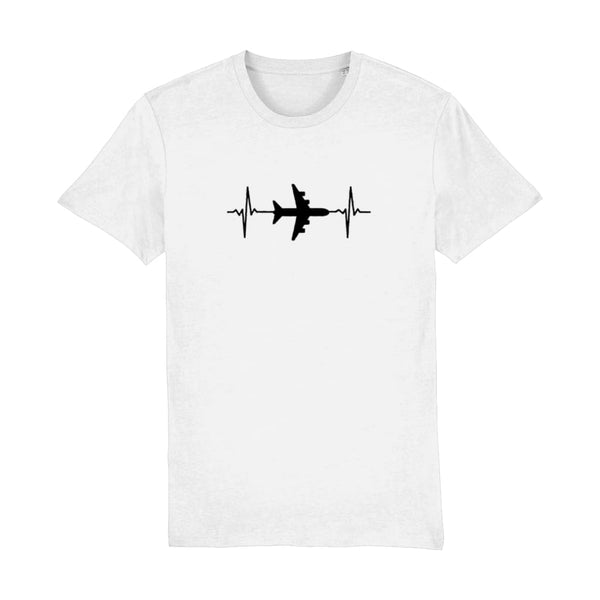 AeroThreads Clothing White / XX-Small Heartbeat Men's T-Shirt
