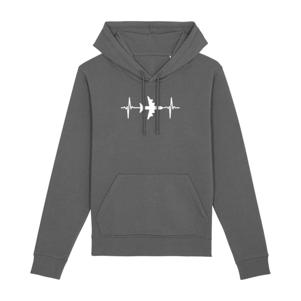 AeroThreads Clothing Anthracite / X-Small Heartbeat Unisex Hoodie