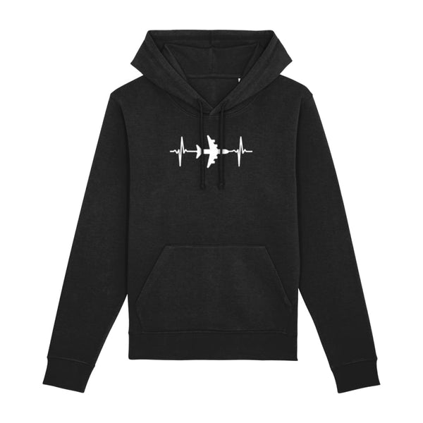 AeroThreads Clothing Black / XX-Small Heartbeat Unisex Hoodie