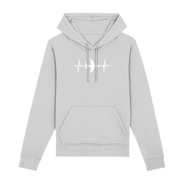 AeroThreads Clothing Heather Grey / XX-Small Heartbeat Unisex Hoodie