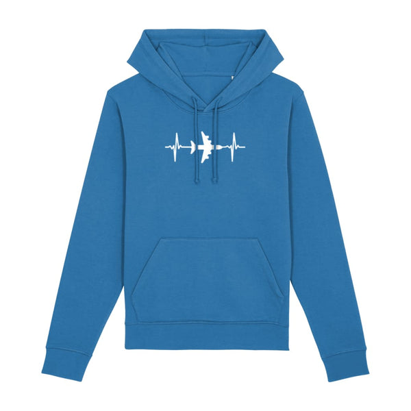 AeroThreads Clothing Royal Blue / X-Small Heartbeat Unisex Hoodie
