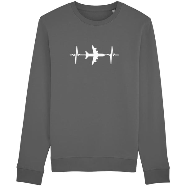 AeroThreads Clothing Anthracite / X-Small Heartbeat Unisex Sweatshirt