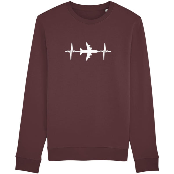 AeroThreads Clothing Burgundy / X-Small Heartbeat Unisex Sweatshirt