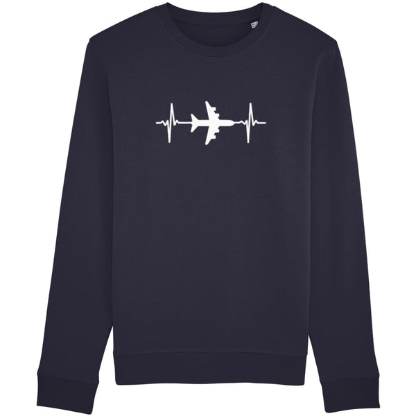 AeroThreads Clothing French Navy / X-Small Heartbeat Unisex Sweatshirt
