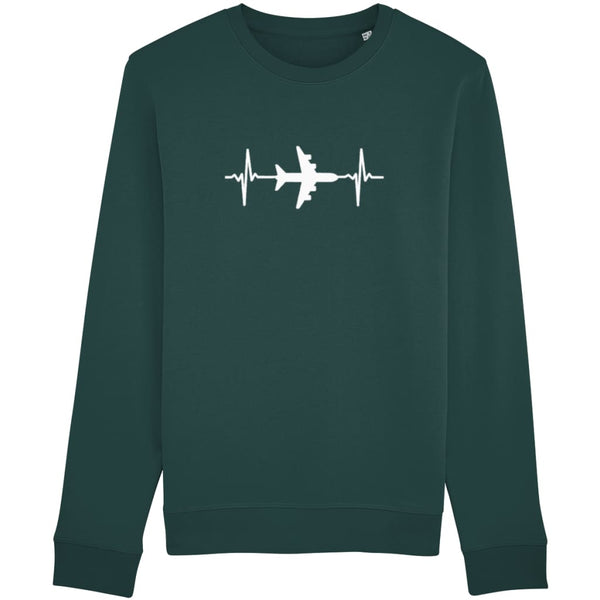 AeroThreads Clothing Glazed Green / X-Small Heartbeat Unisex Sweatshirt