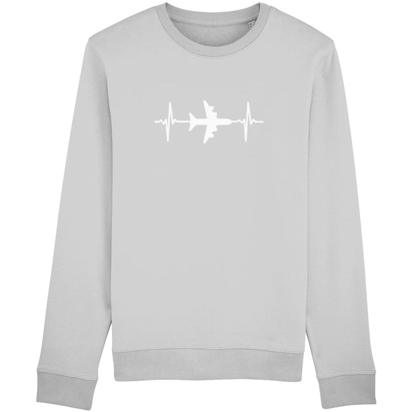 AeroThreads Clothing Heather Grey / X-Small Heartbeat Unisex Sweatshirt