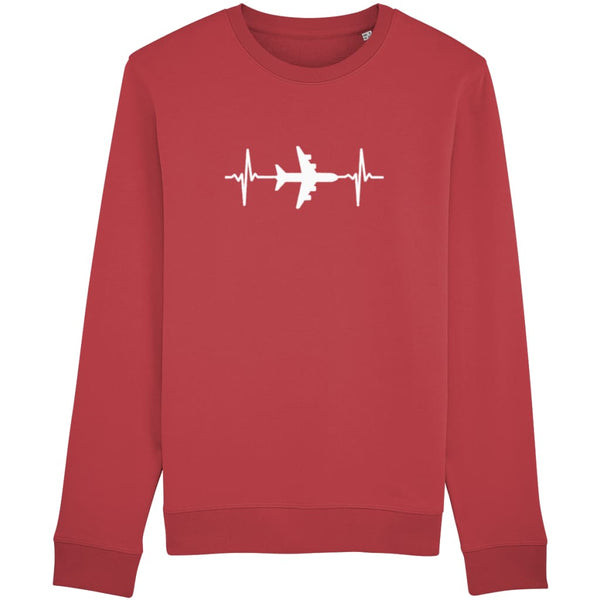 AeroThreads Clothing Red / X-Small Heartbeat Unisex Sweatshirt