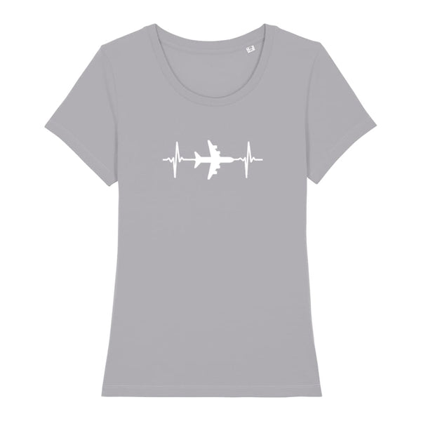 AeroThreads Clothing Mid Heather Grey / X-Small Heartbeat Women's T-Shirt