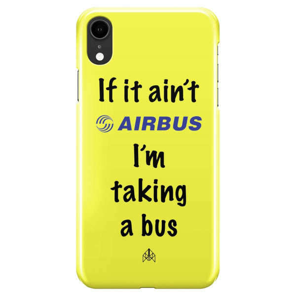 AeroThreads Phone Cases Pale Yellow If it ain't Airbus - iPhone XR