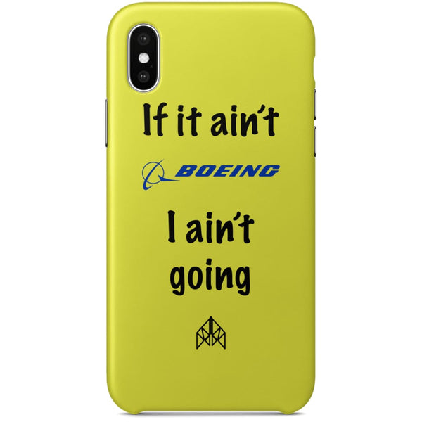 AeroThreads Phone Cases Pale Yellow If it ain't Boeing - iPhone X