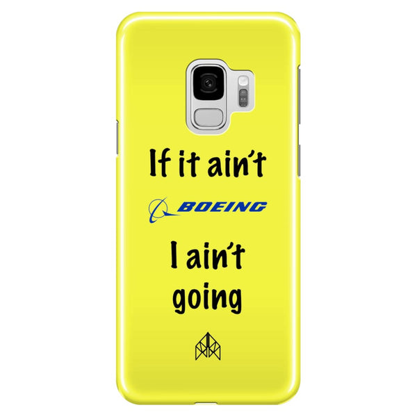 AeroThreads Phone Cases Pale Yellow If it ain't Boeing - Samsung Galaxy S9