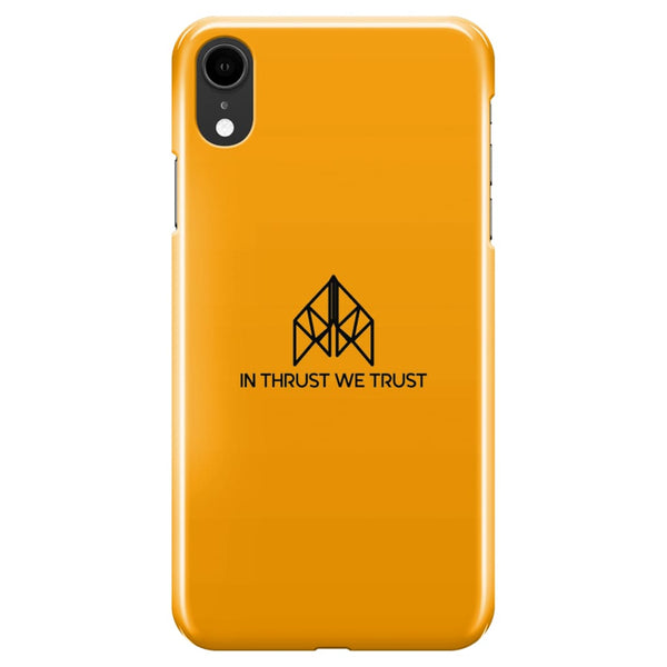 AeroThreads Phone Cases Gold In Thrust We Trust iPhone XR Full Wrap Case