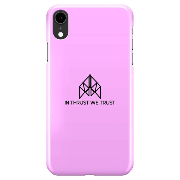 AeroThreads Phone Cases Medium Pink In Thrust We Trust iPhone XR Full Wrap Case