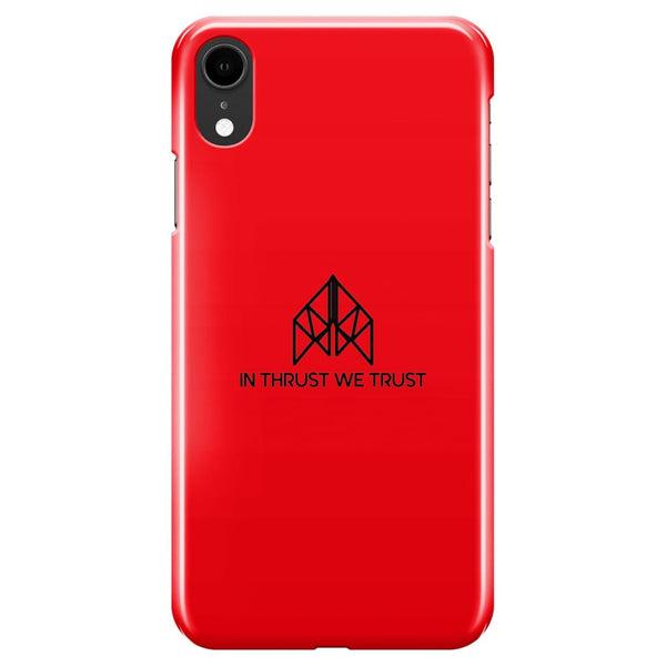 AeroThreads Phone Cases Red In Thrust We Trust iPhone XR Full Wrap Case
