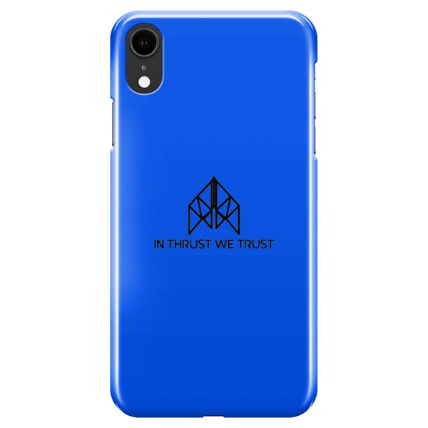 AeroThreads Phone Cases Royal Blue In Thrust We Trust iPhone XR Full Wrap Case