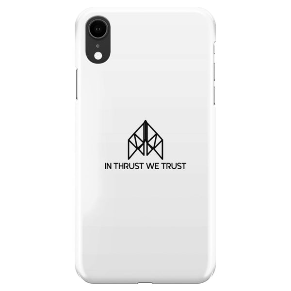 AeroThreads Phone Cases White In Thrust We Trust iPhone XR Full Wrap Case