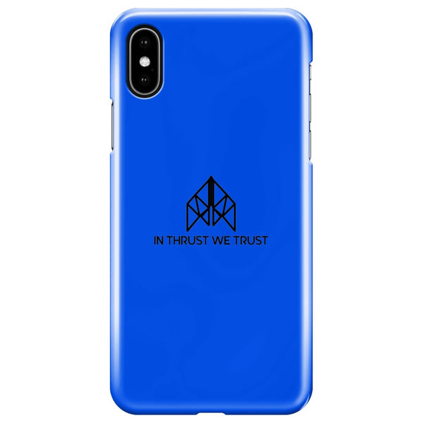 AeroThreads Phone Cases Royal Blue In Thrust We Trust iPhone XS Max Full Wrap Case