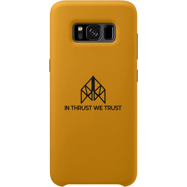 AeroThreads Phone Cases Gold In Thrust We Trust Samsung Galaxy S8 Full Wrap Case
