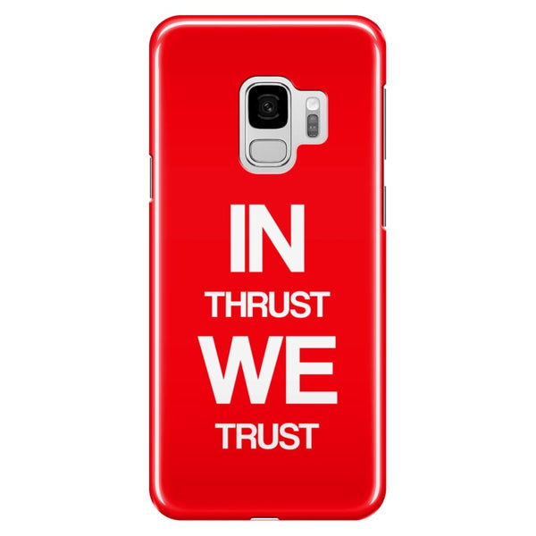 AeroThreads Phone Cases Red In Thrust We Trust - Samsung Galaxy S9