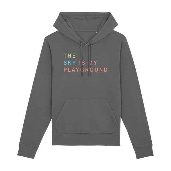 AeroThreads Clothing Anthracite / X-Small The Sky Is My Playground Unisex Hoodie