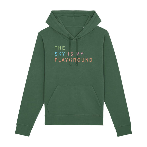 AeroThreads Clothing Bottle Green / X-Small The Sky Is My Playground Unisex Hoodie