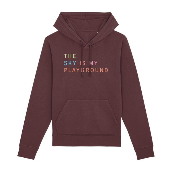 AeroThreads Clothing Burgundy / XX-Small The Sky Is My Playground Unisex Hoodie