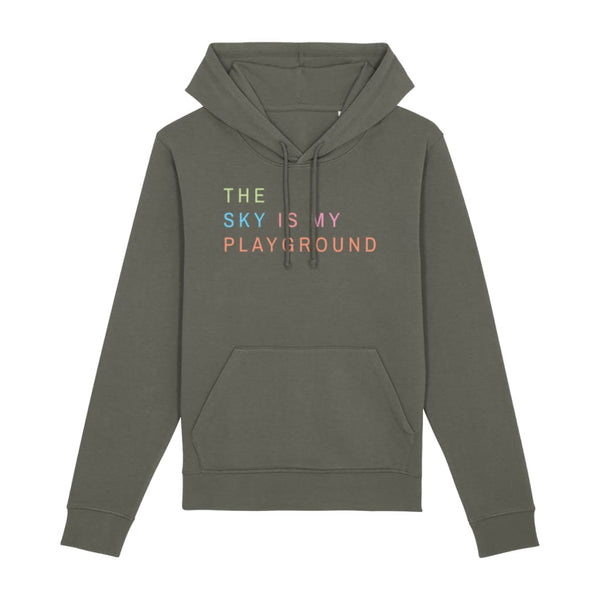 AeroThreads Clothing Khaki / X-Small The Sky Is My Playground Unisex Hoodie