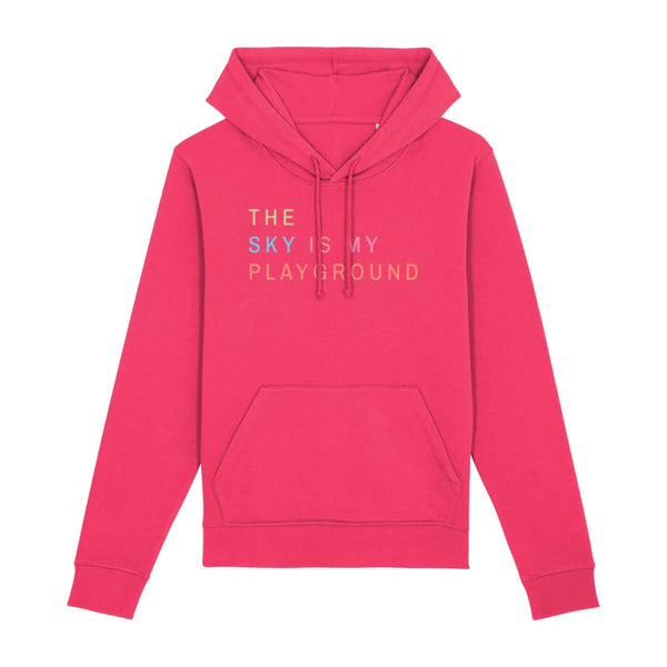 AeroThreads Clothing Raspberry / X-Small The Sky Is My Playground Unisex Hoodie