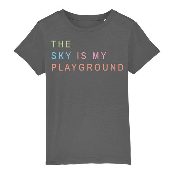 AeroThreads Clothing Anthracite / 3-4 years The Sky Is My Playground Unisex Kid's T-Shirt