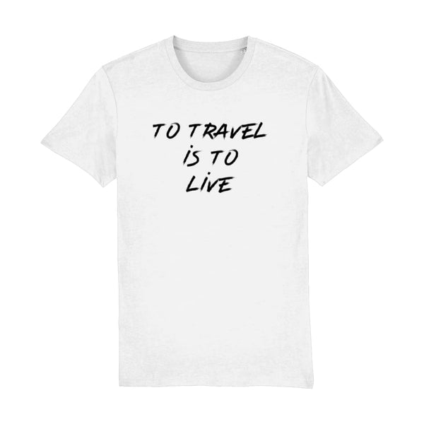 AeroThreads Clothing White / XX-Small To Travel Is To Live Men's T-Shirt