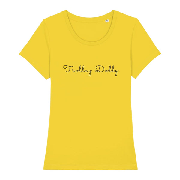 AeroThreads Clothing Golden Yellow / X-Small Trolley Dolly Women's T-Shirt