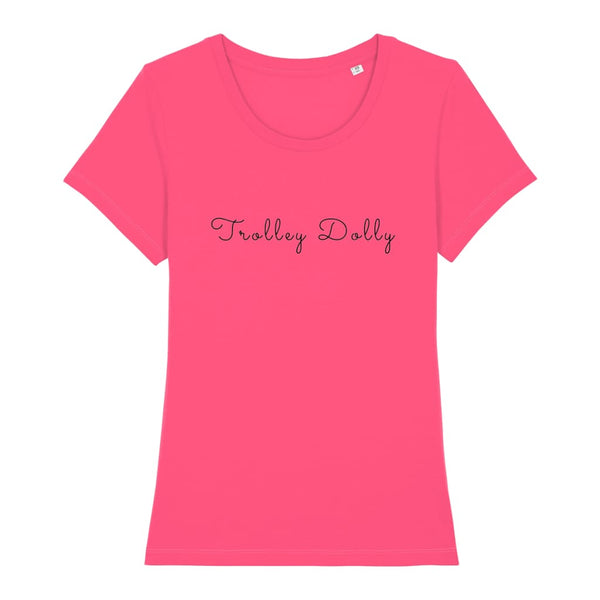 AeroThreads Clothing Pink Punch / X-Small Trolley Dolly Women's T-Shirt