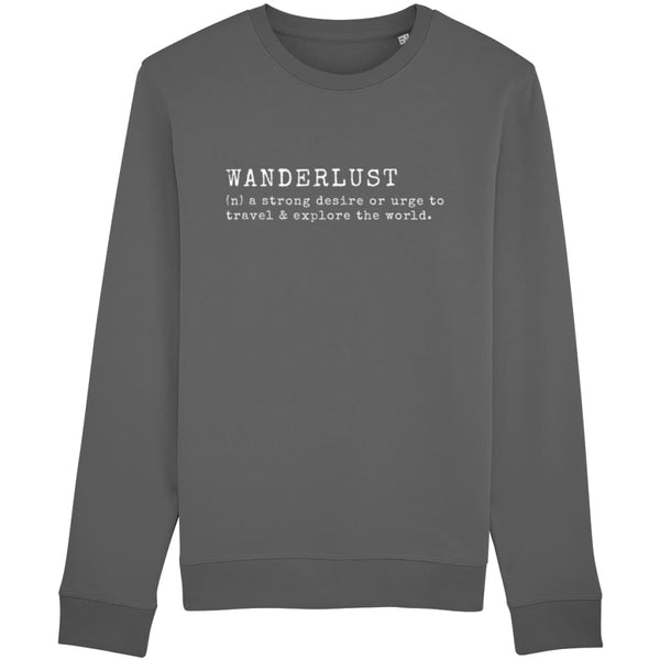 AeroThreads Clothing Anthracite / X-Small Wanderlust Unisex Sweatshirt