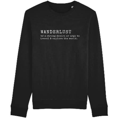 Wanderlust Sweatshirt - Black / X-Small - Clothing