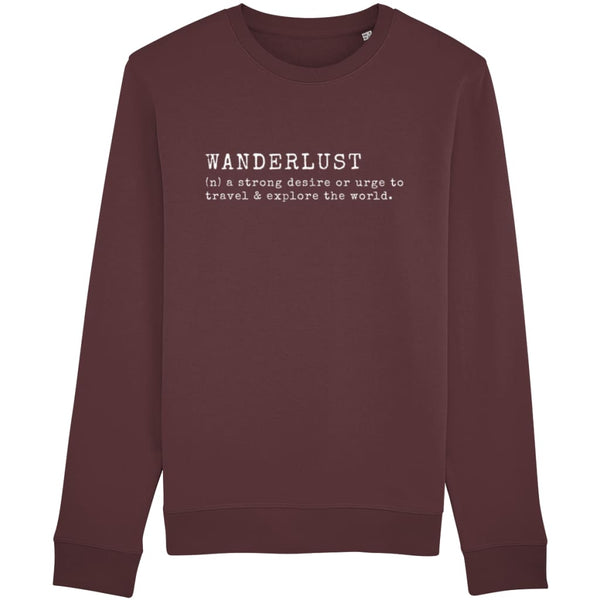 AeroThreads Clothing Burgundy / X-Small Wanderlust Unisex Sweatshirt