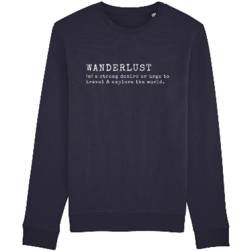 Wanderlust Sweatshirt - French Navy / X-Small - Clothing