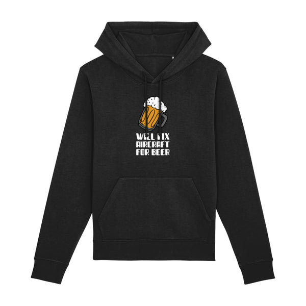 AeroThreads Clothing Black / XX-Small Will Fix Aircraft For Beer Hoodie