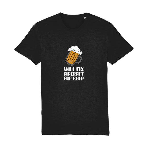 AeroThreads Clothing Black / XX-Small Will Fix Aircraft For Beer Men's T-Shirt