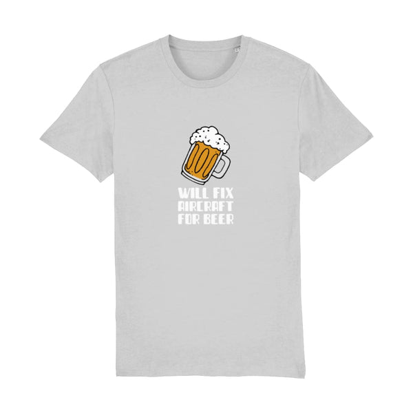 AeroThreads Clothing Heather Grey / XX-Small Will Fix Aircraft For Beer Men's T-Shirt