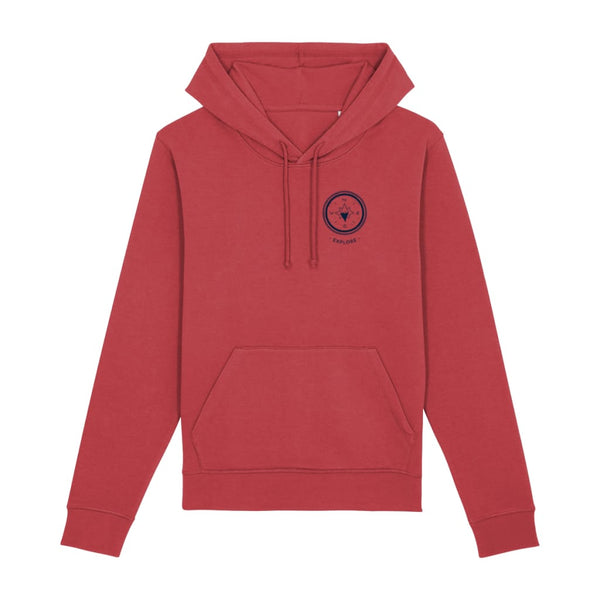 Explore Hoodie - Red / X-Small - Clothing