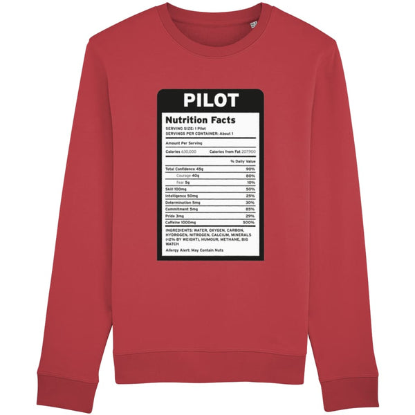 Pilot Nutritional Information Sweatshirt - Red / X-Small -
