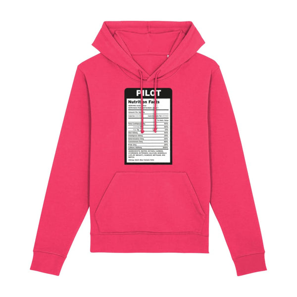 Pilot Nutritional Information Hoodie - Raspberry / X-Small -