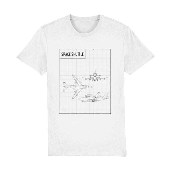 Space Shuttle T-Shirt - White / XX-Small - Suggested