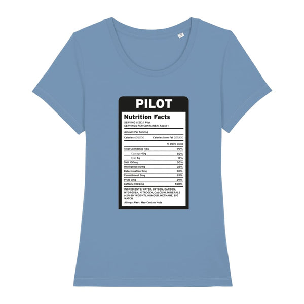 Pilot Nutritional Information Women's T-Shirt - Mid Heather