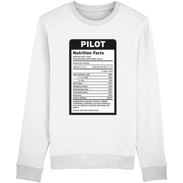 Pilot Nutritional Information Sweatshirt - White / X-Small -